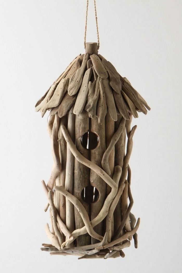 idée lampe bois flotté