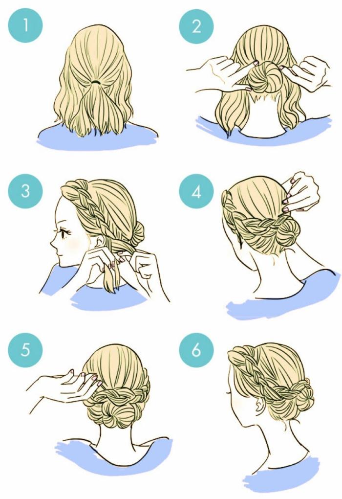 idée pour une coiffure petite fille