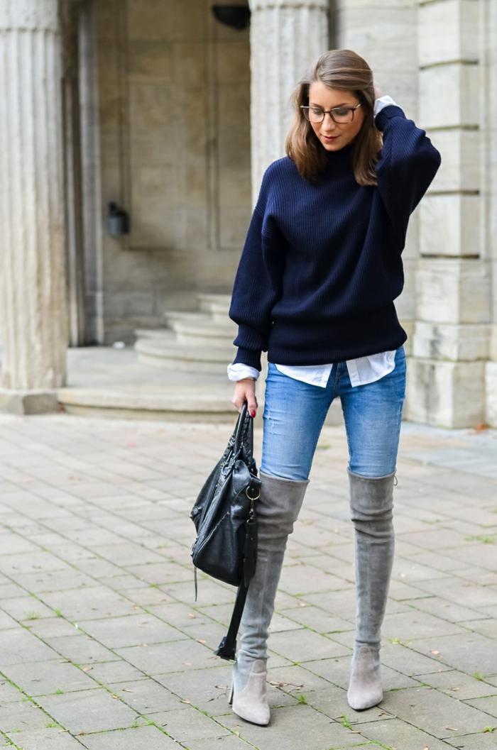 idée pull oversize et jeans