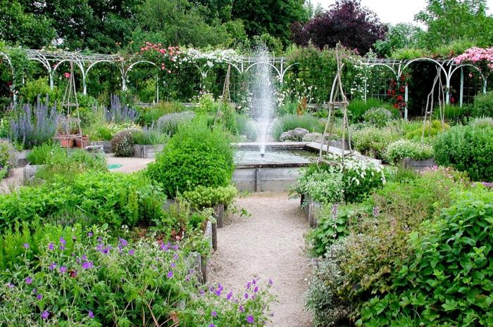 jardin esprit médiéval