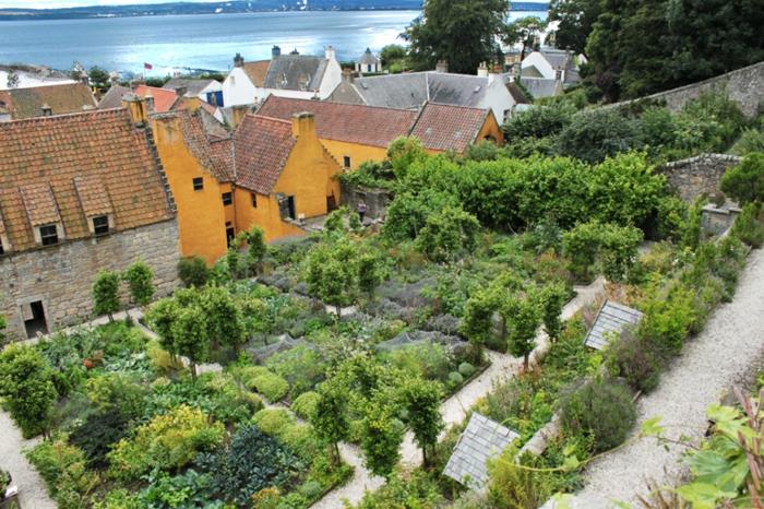 jardin médiéval vu de haut