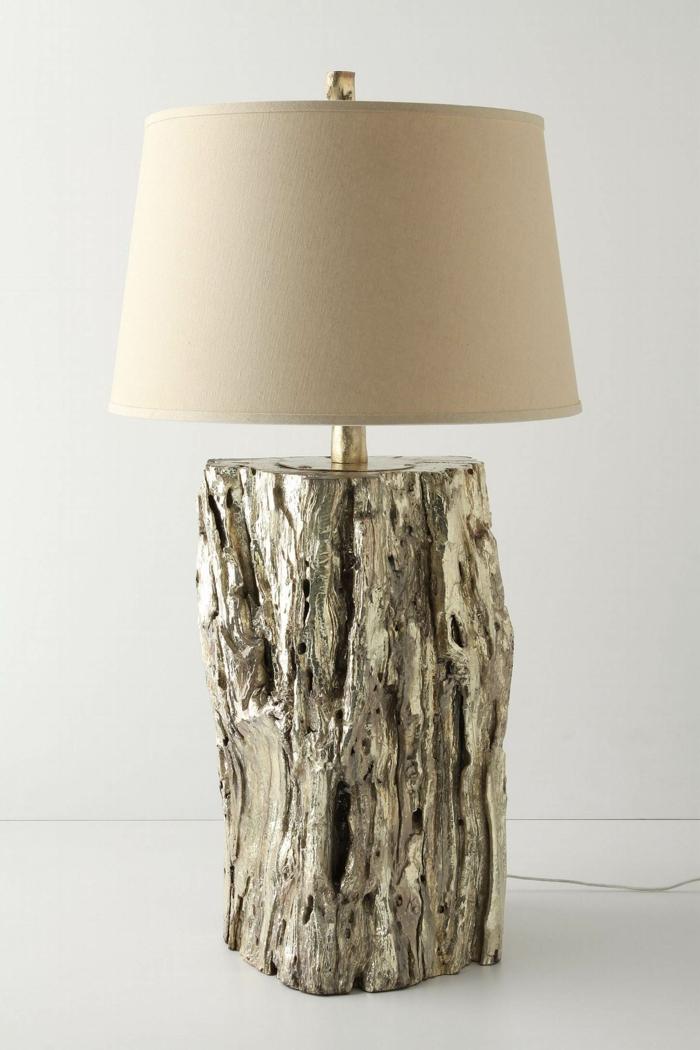 lampe élégante bois flotté