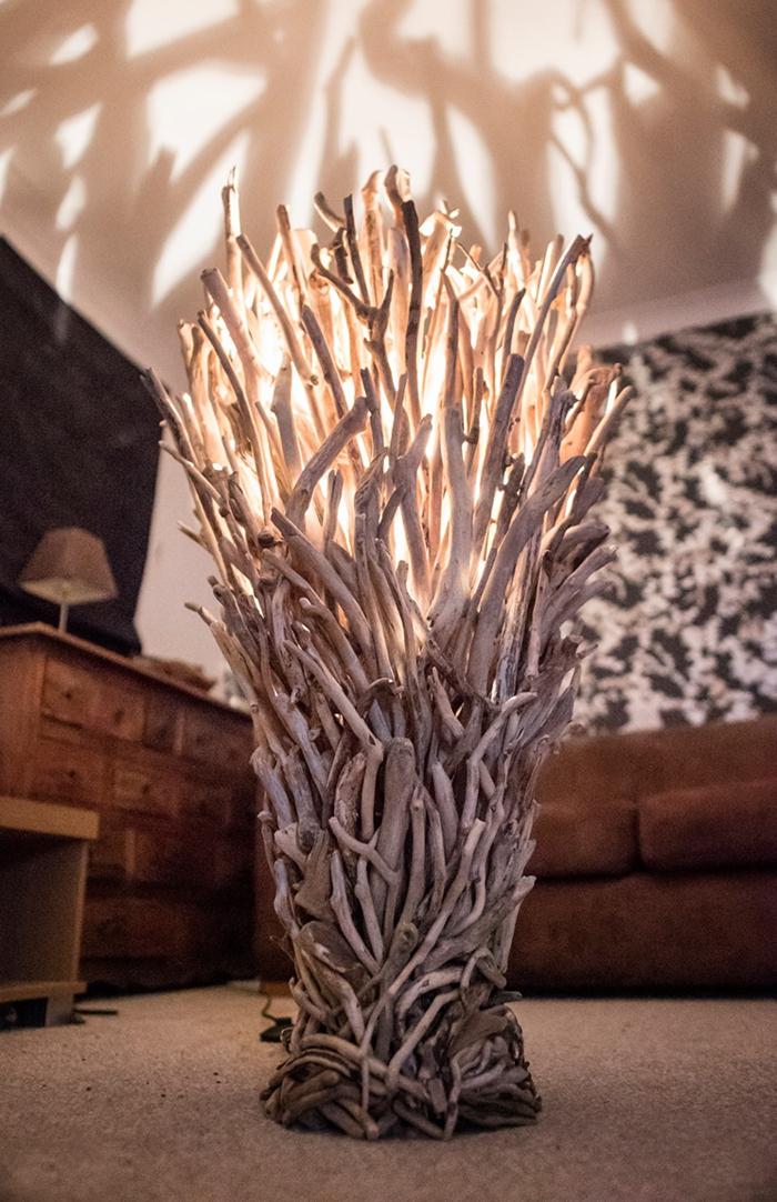 lampe créative de bois