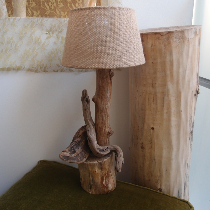 lampe de bois
