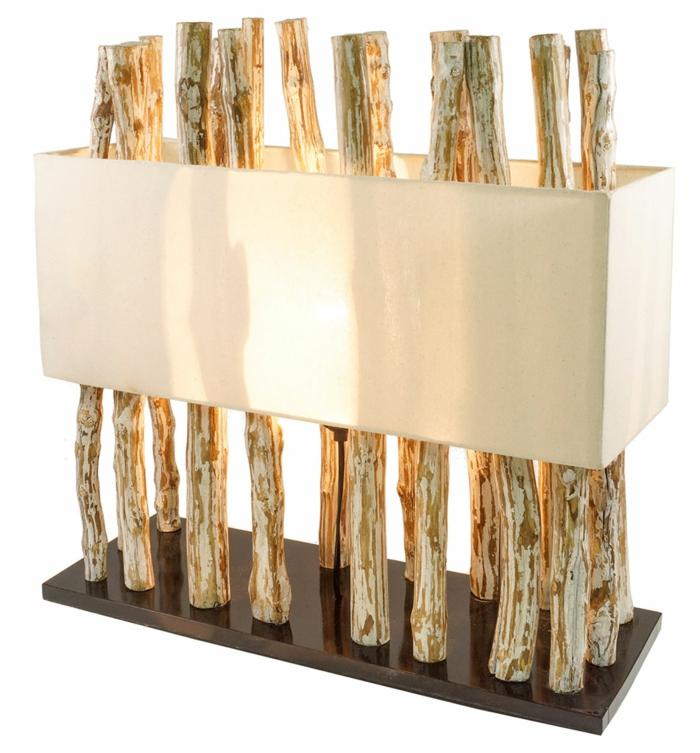 lampe moderne de bois