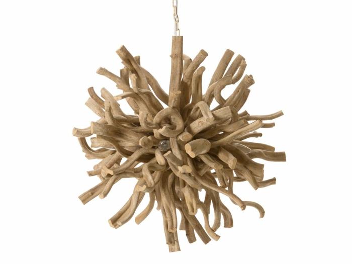 lampe suspendu bois
