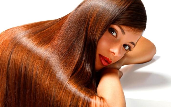lissage brésilien cheveux brillants