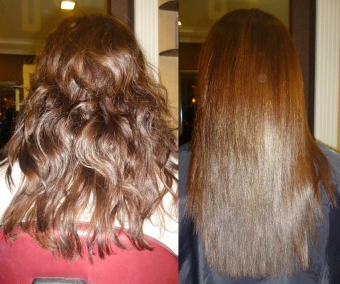 lissage brésilien pour les cheveux