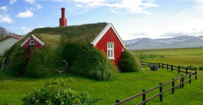 maison de gazon -voyager en islande