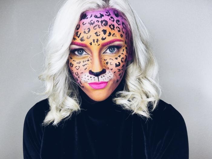 maquillage halloween animal sauvage
