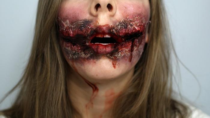 maquillage bouche arrachée femme