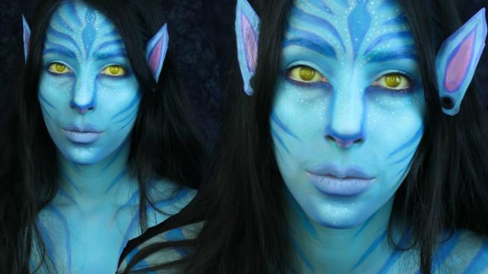 maquillage halloween avatar