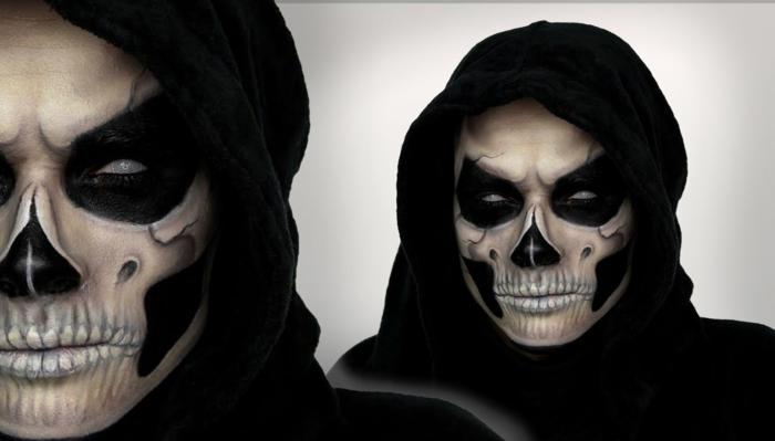 maquillage halloween idée