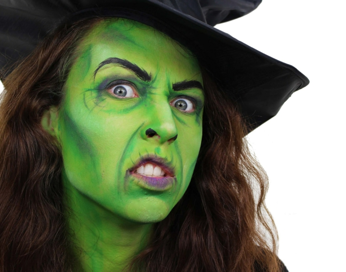 maquillage halloween sorcière