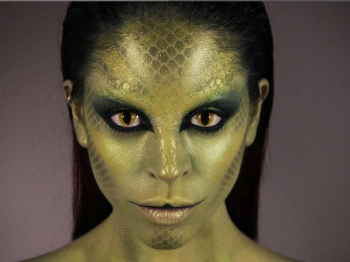 maquillage serpent halloween