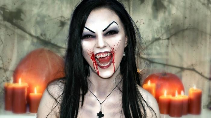 maquillage vampiresse halloween