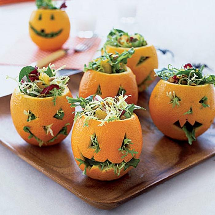 oranges décorés pour halloween