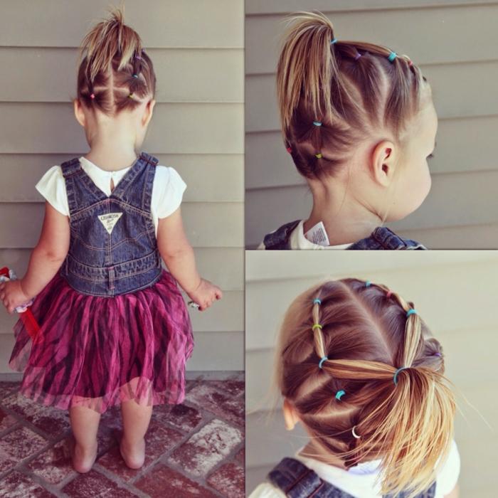 originale idée pour une coiffure petite fille