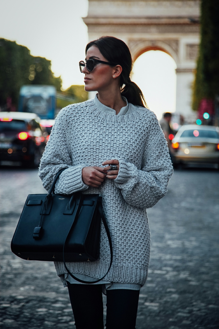 outfit pull oversize tendance