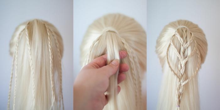 queue de cheval originale-coiffure petite fille