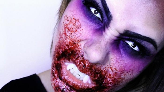 réalisation maquillage halloween