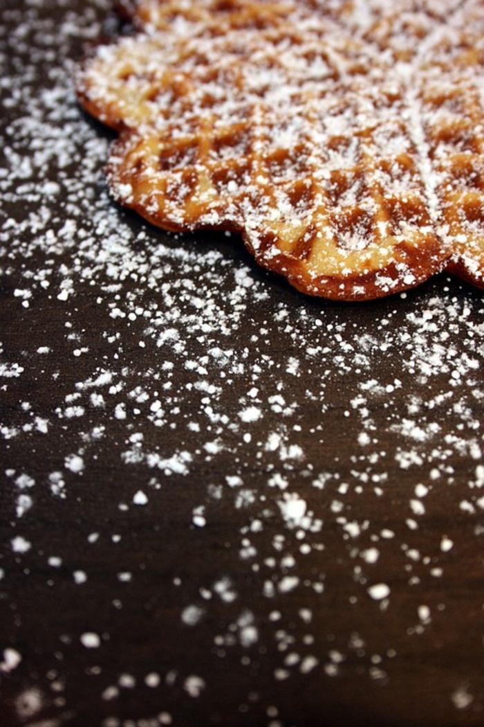 recette gaufre et sucre de glace