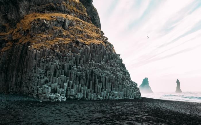 sable noire- Reynisfjara -voyager en Islande