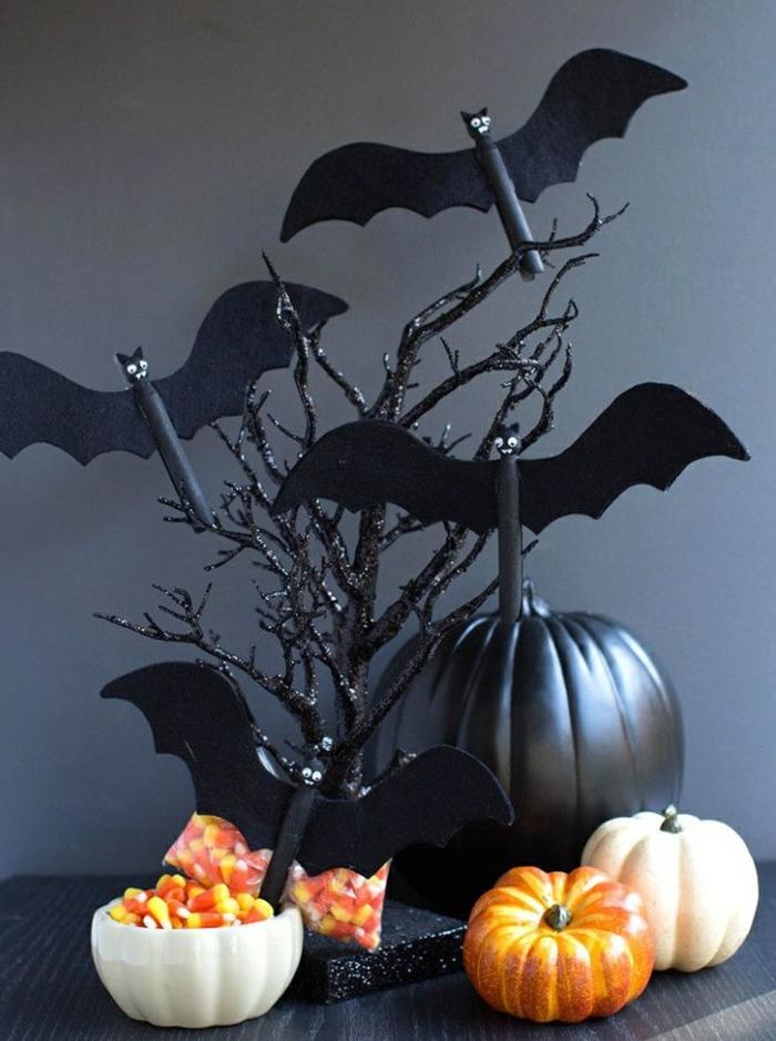 chauve-souris déco halloween