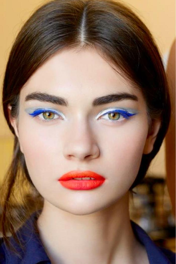 trait eye liner couleurs différentes