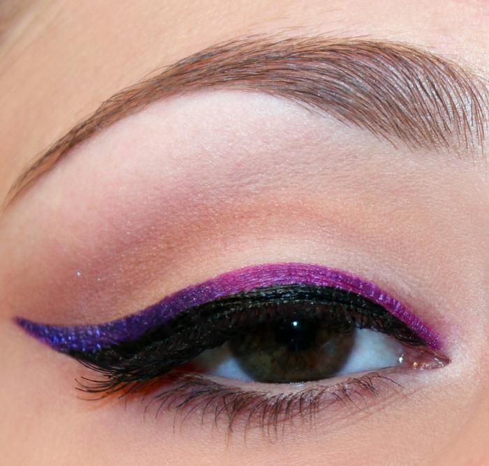 trait eye liner deux couleurs