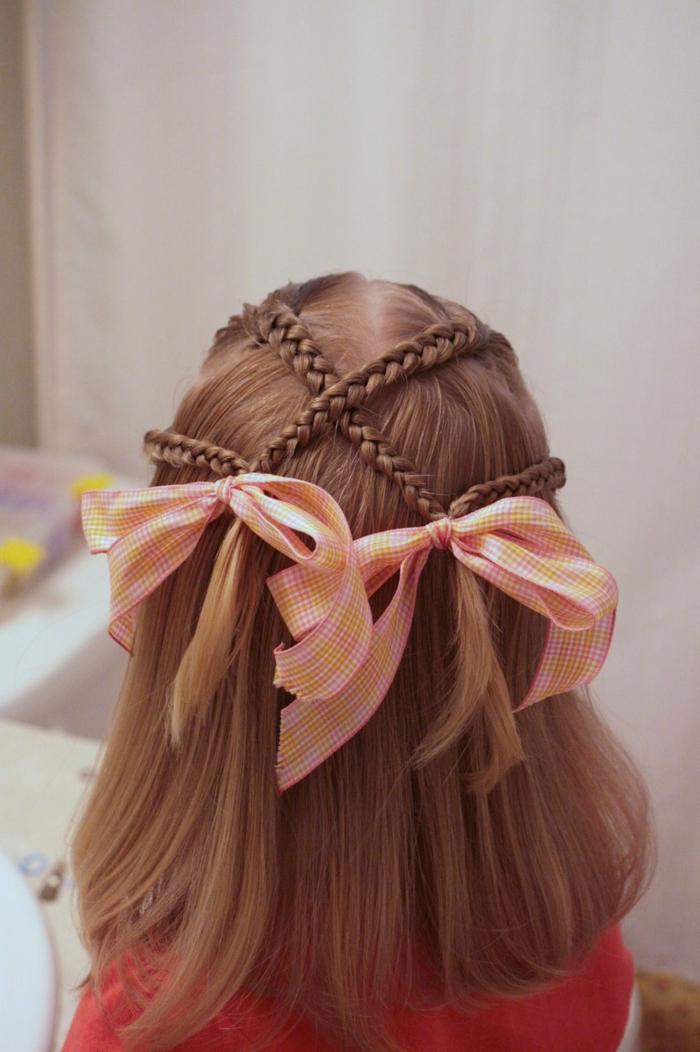 coiffure petite fille avec tresses