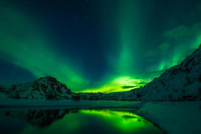 voyager en Islande aurore boréales