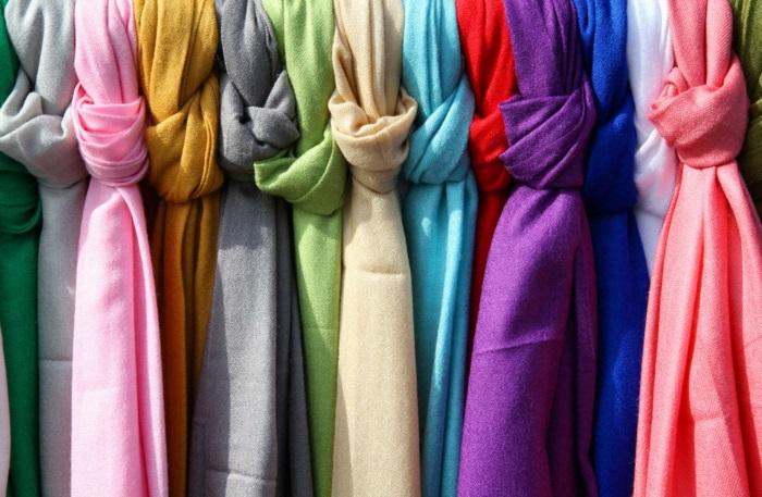 écharpe femme couleurs