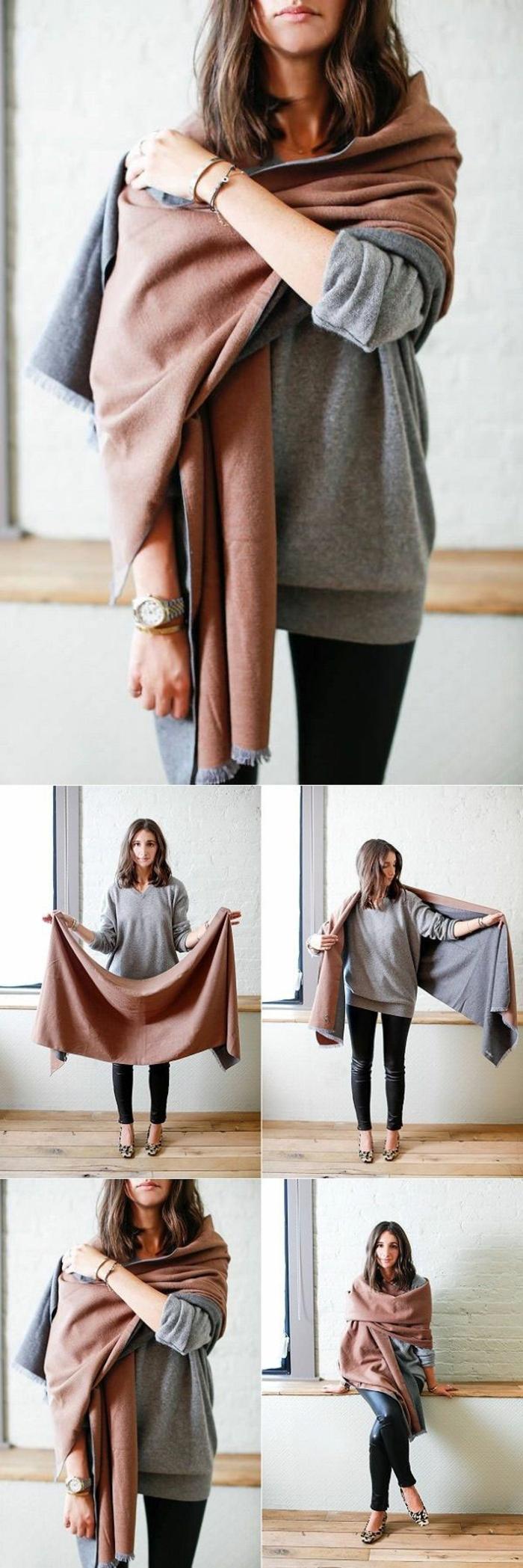 écharpe femme idée comment porter