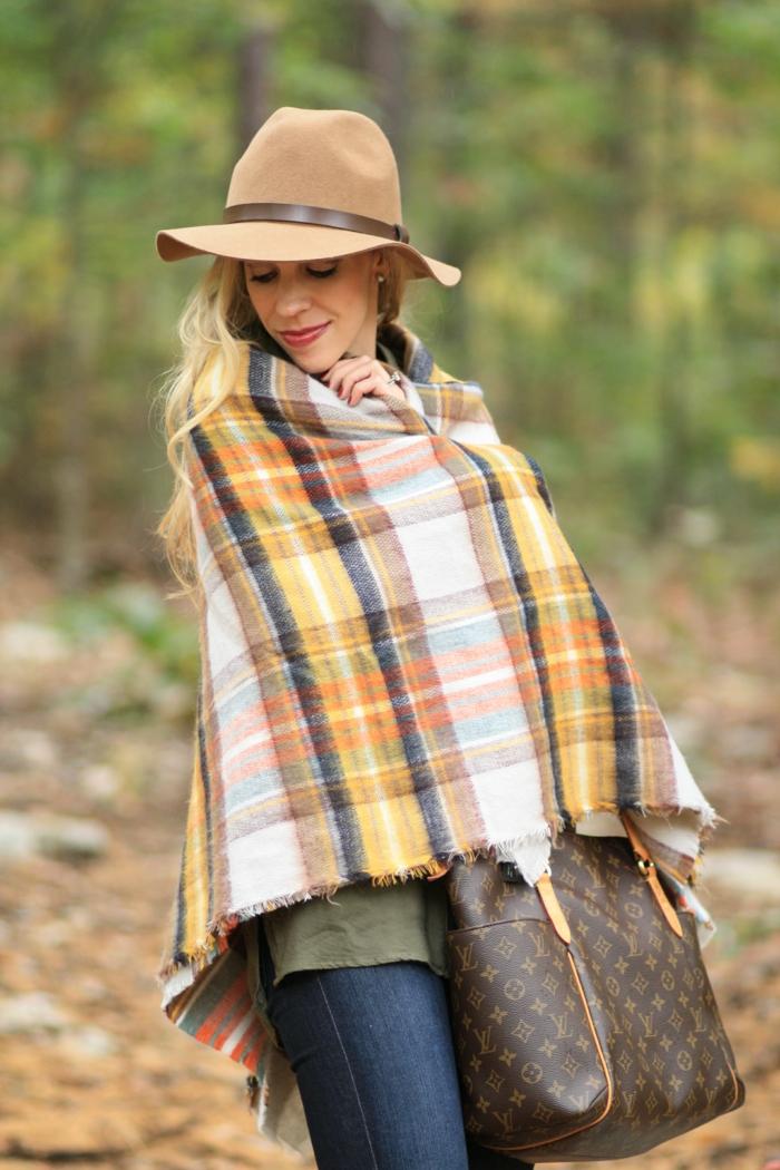 écharpe femme laine