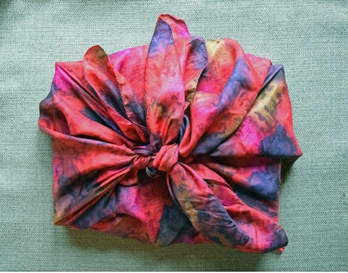 écharpe pour emballage furoshiki