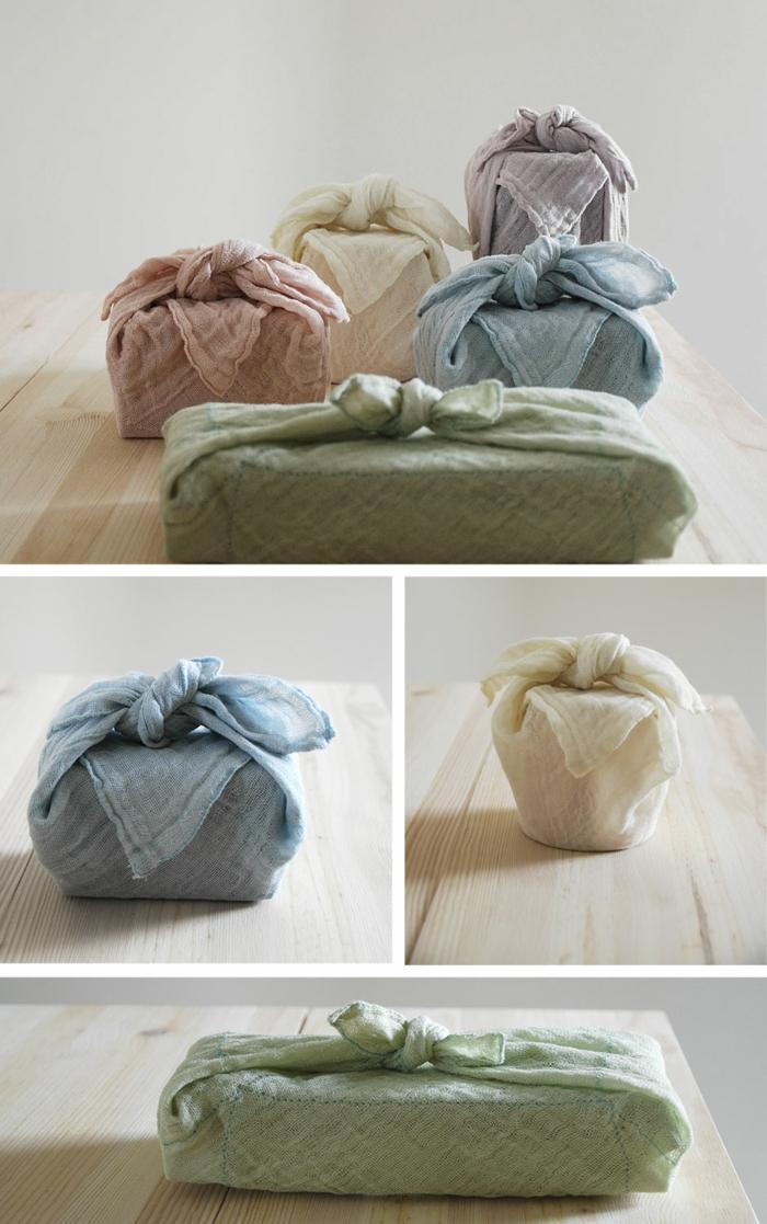 écharpes pour emballer furoshiki