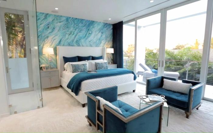 Attrayant Idée Aménagement Chambre Bleu Canard
