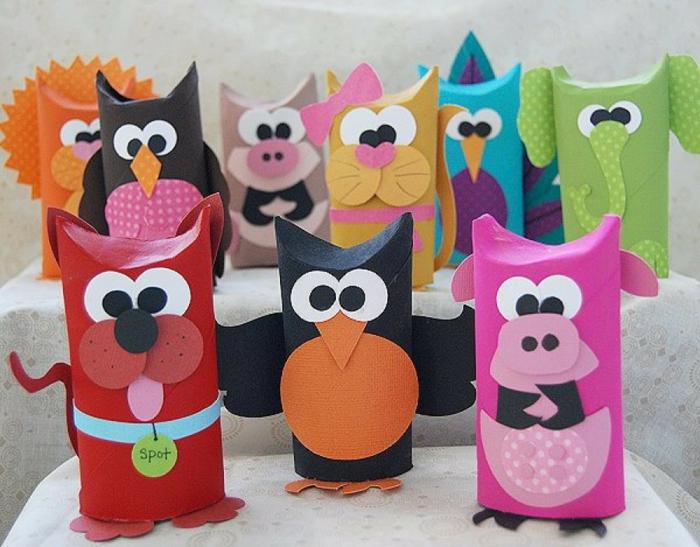 animaux rouleaux papier toilette