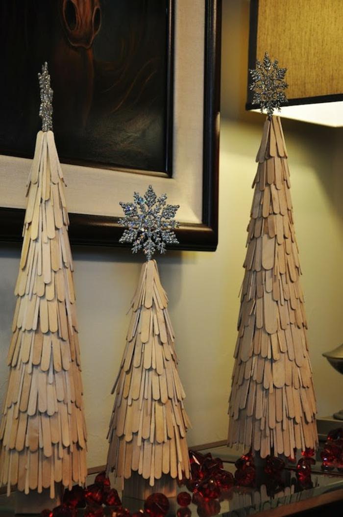 arbre noël bâtons d'artisanat diy