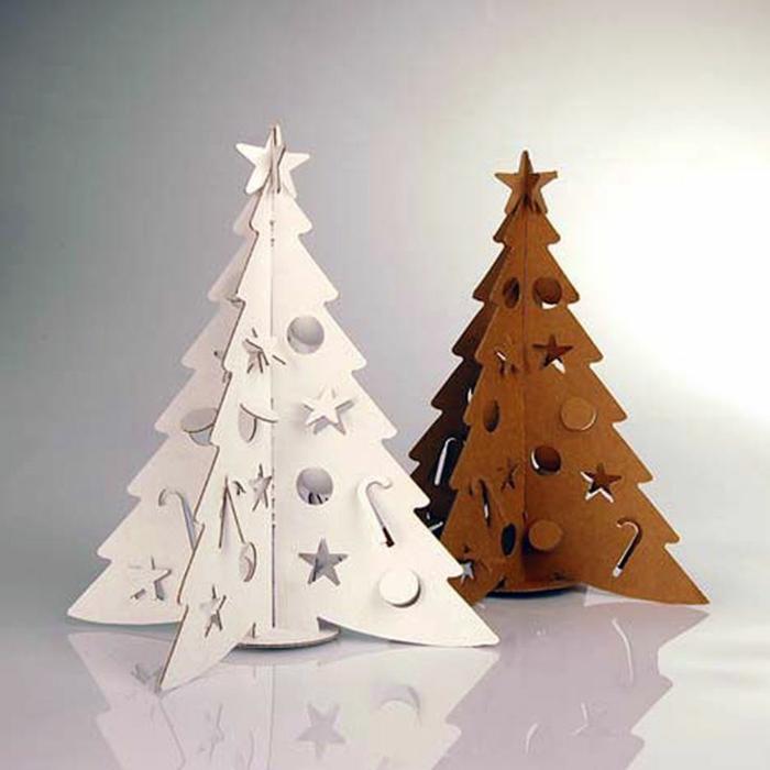 arbres de noël de carton