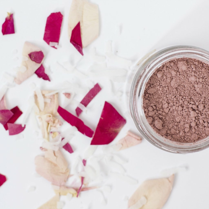 argile rose diy masque