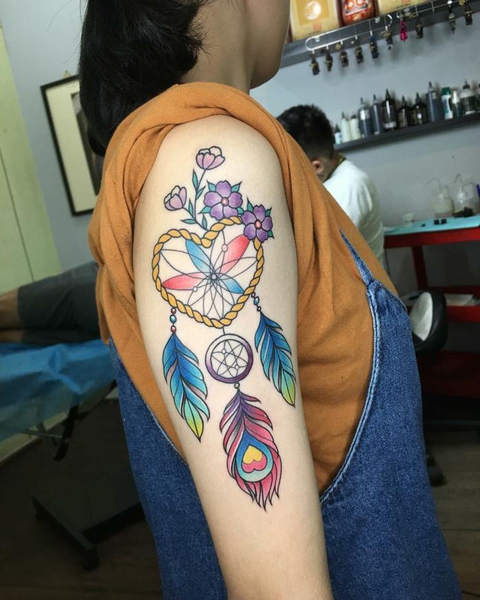 attrape-rêve tatouage intéressant
