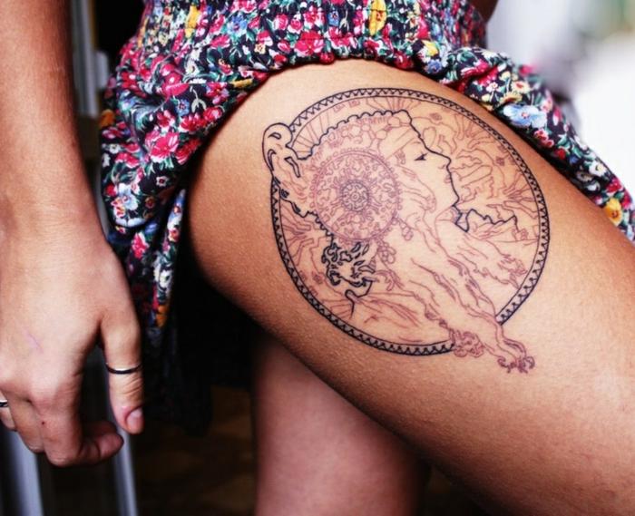 attrape-rêve tatouage moderne