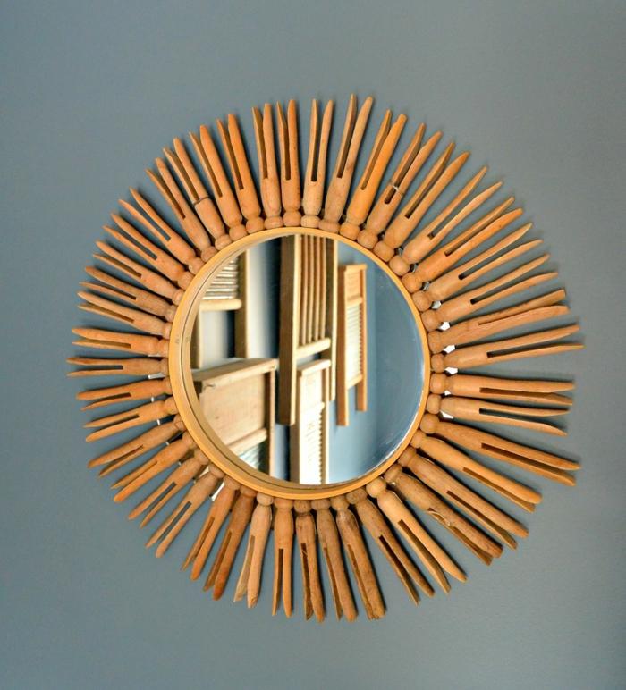pince à inge- idée déco pour un miroir