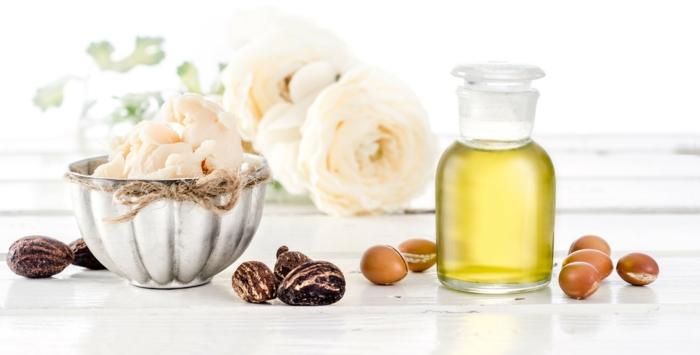huile d'argan et beurre de karité