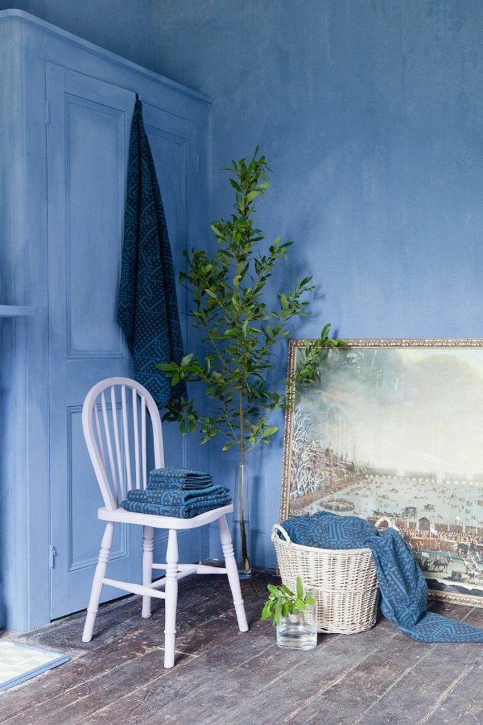 bleu peinture à la chaux