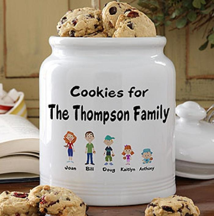 bocal personnalisé biscuits