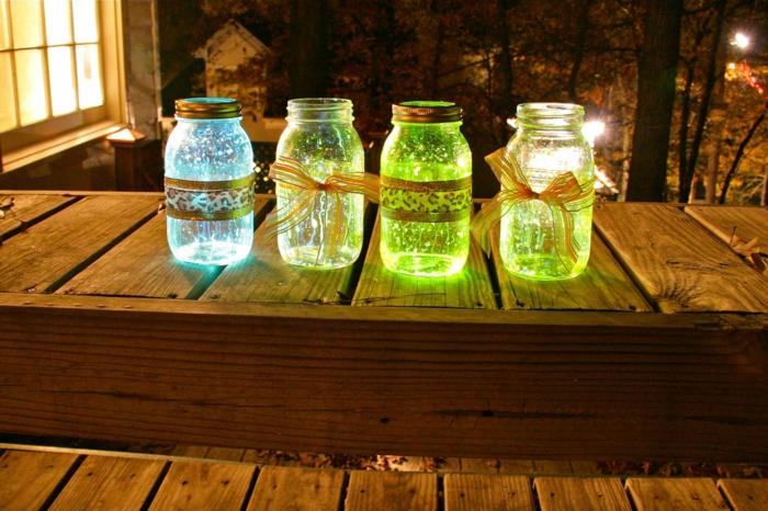 bocaux en verre phosphorescents