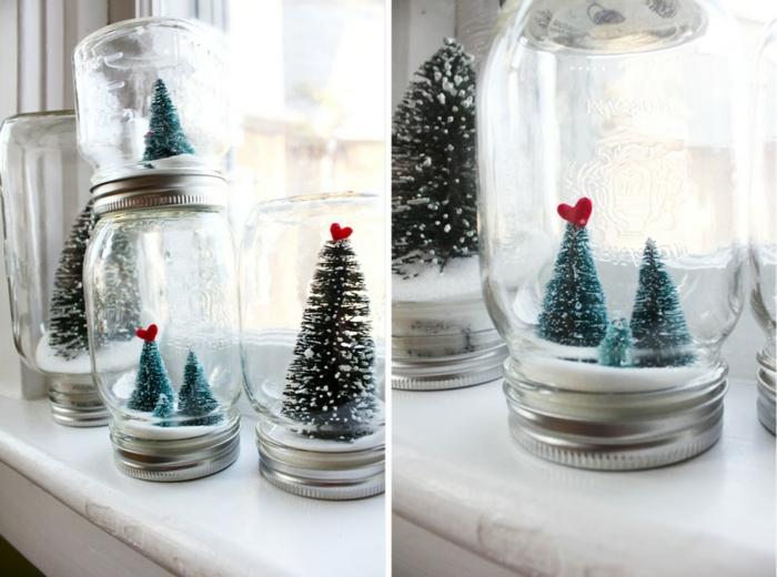 boule à neige faite maison bocaux mason jar